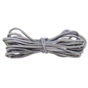 cord, faux suede lace, lavender grey, 3mm. sold per pkg of 5 yards.