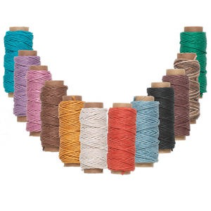 cord, hemptique, hemp, assorted colors, 1mm, 20-pound test. sold per pkg of twelve 29-foot spools.
