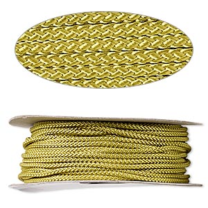 cord, nylon, olive green, 3mm round. sold per 100-foot spool.