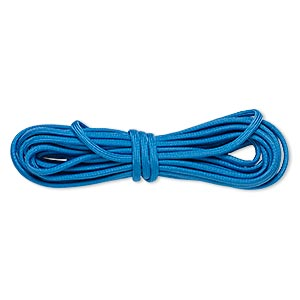 cord, nylon parachute, dark blue, 4mm round, 550-pound test. sold per pkg of 16 feet.