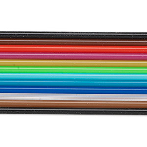 cord, rubber, assorted colors, 2.2mm tube with 0.7 inside diameter. sold per pkg of twelve 18-inch strands.