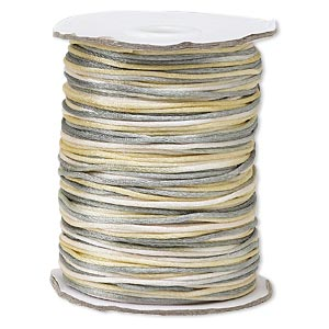 cord, satinique™, satin, coastal fog, 1.5mm small. sold per 400-foot spool.