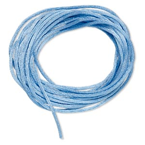 cord, satinique™, satin, denim blue, 1.5mm small. sold per pkg of 10 feet.