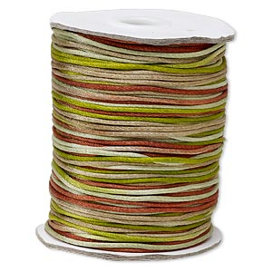cord, satinique™, satin, forest, 1.5mm small. sold per 400-foot spool.