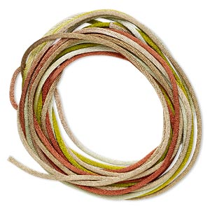 cord, satinique™, satin, forest, 1.5mm small. sold per pkg of 10 feet.