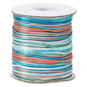 cord, satinique™, satin, southwest, 1mm mini. sold per 200-foot spool.