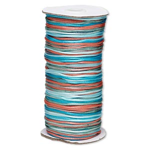 cord, satinique™, satin, southwest, 2mm regular. sold per 400-foot spool.