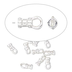 crimp end, silver-plated brass, 4.5x3mm tube with loop, 1.5mm inside diameter. sold per pkg of 10.