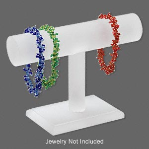 display, bracelet, acrylic, frosted white, 4-1/2 x 6-1/2 x 2-1/2 inches. sold individually.