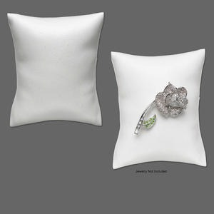 display, leatherette, white, 3-1/2x3 x 1-3/4 inch pillow. sold per pkg of 2.