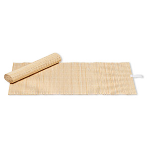 display pad, bamboo (natural), 14 x 7-3/4 inch roll-up rectangle. sold per pkg of 4.