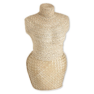 display, wood and abaca fiber (natural), 14 x 7-1/2 x 5-inch mannequin. sold individually.