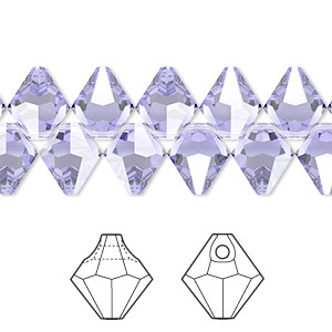 drop, swarovski crystals, provence lavender, 8mm faceted bicone pendant (6301). sold per pkg of 288 (2 gross).