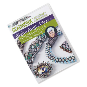 dvd, beadwork designer of the year series: right-angle weave - fundamentals with marcia decoster instructional video with marcia decoster. sold individually.