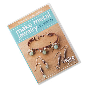 dvd, kitchen table metalsmithing: make metal jewelry with tubing with tracy stanley instructional video with tracy stanley. sold individually.