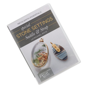 dvd, metalsmith essentials: special stone settings - saddle  strap instructional video with michael boyd. sold individually.