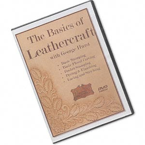 dvd, the basics of leathercraft instructional video with george hurst. sold individually.
