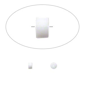 earnut, pvc plastic, white, 1x1mm-3x2mm safety nut. sold per pkg of 50 pairs.