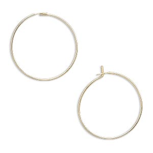 earring, 14kt gold-filled, 19mm round hoop. sold per pkg of 25 pairs.