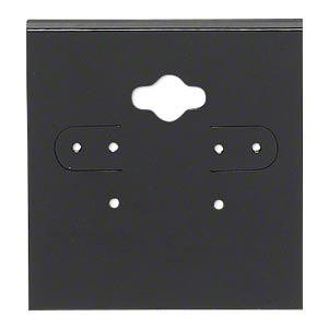 earring card, pvc plastic, opaque black, 2x2 inch square. sold per pkg of 100.
