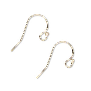 earwire, 14kt gold-filled, 10mm fishhook with open loop and ball, 22 gauge. sold per pair.