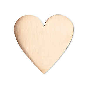 embellishment, copper, 30x30mm undrilled double-sided shiny flat heart blank, 18 gauge. sold per pkg of 2.
