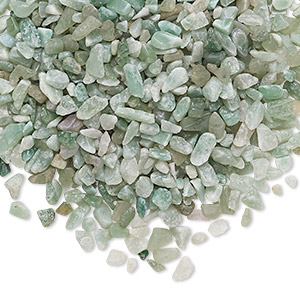 embellishment, green aventurine (natural), undrilled mini chip, mohs hardness 7. sold per 50-gram pkg.