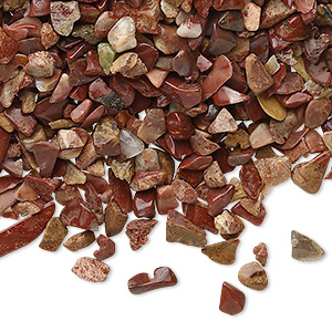 embellishment, red jasper (natural), mini hand-cut undrilled chip, mohs hardness 6-1/2 to 7. sold per 50-gram pkg, approximately 850-1,100 pieces.