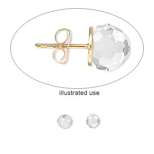 embellishment, swarovski crystals, crystal passions, crystal clear, 4mm faceted ball fancy stone (4869). sold per pkg of 2.