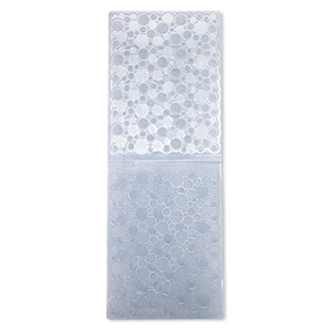 embosser folder, quickutz, blue, 5-3/4 x 4-1/4 inch rectangle with circle designs, a2 series. sold individually.