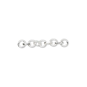 extender chain, sterling silver, 4mm round link, 1 inch. sold per pkg of 2.