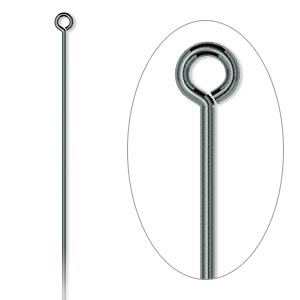 eyepin, gunmetal-plated brass, 2 inches, 21 gauge. sold per pkg of 500.