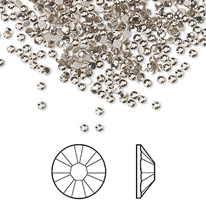 flat back, swarovski crystal rhinestone, crystal passions, greige, foil back, 1.7-1.9mm xilion rose (2058), ss5. sold per pkg of 1,440 (10 gross).