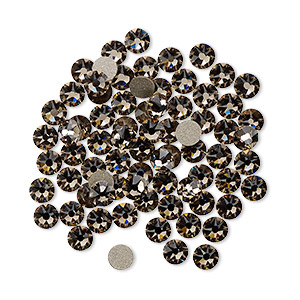 flat back, swarovski crystal rhinestone, crystal passions, greige, foil back, 3-3.2mm xirius rose (2088), ss12. sold per pkg of 1,440 (10 gross).
