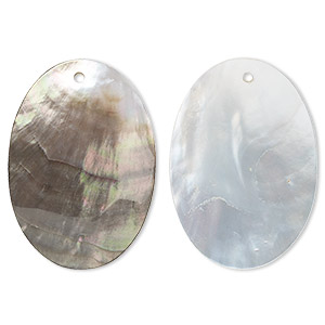 focal, black lip shell (natural), 50x35mm oval, mohs hardness 3-1/2. sold individually.
