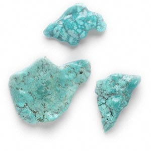 focal mix, turquoise (dyed / stabilized), blue, (2) 17x11mm-38x22mm and (1) 51x22mm-67x46mm top-drilled freeform, mohs hardness 5 to 6. sold per 3-piece set.