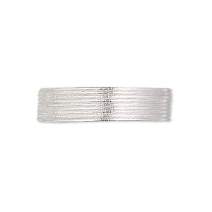 french wire, silver-plated copper, fine, 0.85mm. sold per approximately 27-30 inch strand.