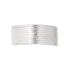 french wire, sterling silver, 1.0mm tube. sold per pkg of 27 inches.