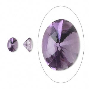 gem, amethyst (natural), 7x5mm buff-top oval, a grade, mohs hardness 7. sold per pkg of 2.