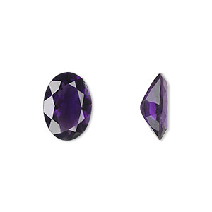 gem, amethyst (natural), light to medium, 14x10mm faceted oval, a grade, mohs hardness 7. sold individually.