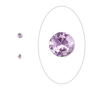 gem, cubic zirconia, alexandrite purple, 2mm faceted round, mohs hardness 8-1/2. sold per pkg of 10.