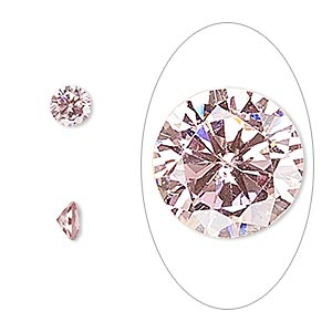 gem, cubic zirconia, sapphire rose, 5mm faceted round, mohs hardness 8-1/2. sold per pkg of 2.