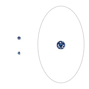gem, cubic zirconia, spinel blue, 1.5mm faceted round, mohs hardness 8-1/2. sold per pkg of 10.