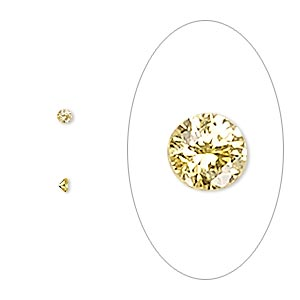 gem, cubic zirconia, topaz gold, 2mm faceted round, mohs hardness 8-1/2. sold per pkg of 10.