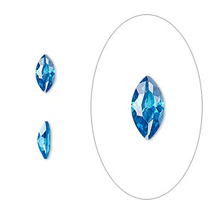 gem, cubic zirconia, zircon blue, 8x4mm faceted marquise, mohs hardness 8-1/2. sold per pkg of 2.