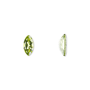 gem, peridot (natural), 10x5mm faceted marquise, a grade, mohs hardness 6-1/2 to 7. sold individually.