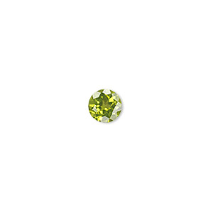 gem, peridot (natural), 7mm faceted round, a grade, mohs hardness 6-1/2 to 7. sold individually.