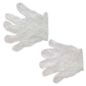 glove, vinyl, white, large. sold per pair.
