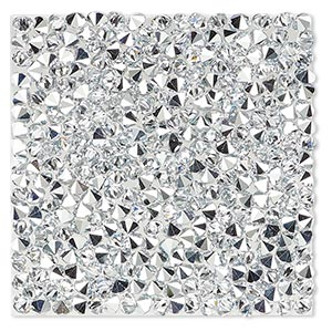 iron-on transfer, swarovski hotfix crystal rocks, crystal cal, 40x40mm square (72003). sold individually.