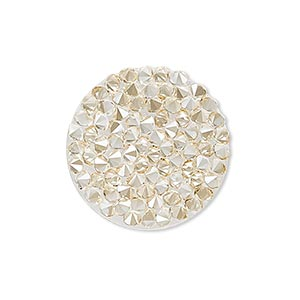 iron-on transfer, swarovski hotfix crystal rocks, crystal golden shadow, 24mm round (72013). sold individually.